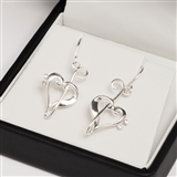 Silver Heart of Clefs Earrings