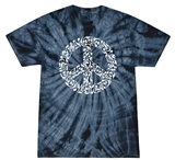 Music Peace Sign Tie Dye T-Shirt