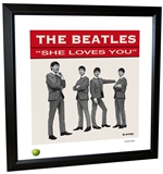Beatles 'She Loves You' Single Framed Lithograph
