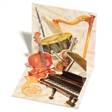 Musical Instruments Mini Pop-Up Gift Card