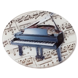 Round Musical Instrument Cutting Board