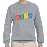Four Music Symbols Sweatshirt