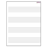 "Erasable Music Staff 17"" x 22"" Chart"