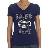 Music Dept. Piano Ladies T-Shirt