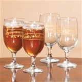 Iced Tea 'Do-Re-Mi' Glasses, Set of 4