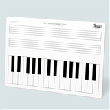 Keyboard & Grand Staff Dry Erase Board