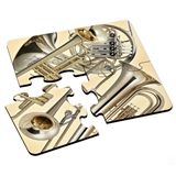 Brass Instruments Puzzle Coasters