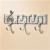 Musical Staff Pewter Triple Hook