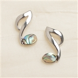 Abalone Eighth Note Stud Earrings