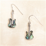 Abalone Guitar Earrings