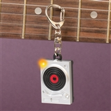 Turntable Keychain With Light & Sound