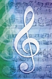Treble Clef on Sheet Music Program Covers