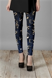Music Reflections Blue and Gold Leggings