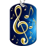 Vibrant Music Dog Tag