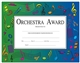Orchestra Award Certificates, Set of 10