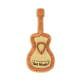 'Got Music?' Wooden Guitar Magnet