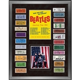Beatles 'Ticket Collage' Limited Edition Lithograph