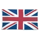 British Flag Cut-Out Greeting Card