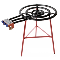 Double Flame Extra-Large Burner, Model L60 with Reinforced Tripod