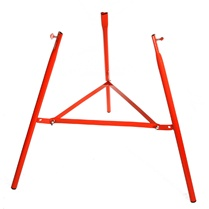 Reinforced red burner tripod