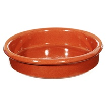 """AS IS"" 6 1/4-inch Cazuela - Terra Cotta Dish"