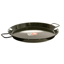 "22"" Enameled Steel Paella Pan"