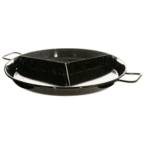 "20"" Enameled Steel Tri Paella Pan"