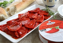 Whole Piquillo Peppers in Round Tin by Dantza