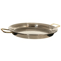 "16"" Stainless Steel Paella Pan (40 cm)"