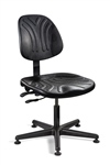 "7001D Polyurethane Chair, Articulating Seat & Back Tilt, 5-Star Black Nylon Base, Mushroom Glides. Seat Height Adjusts 15"" - 20"""