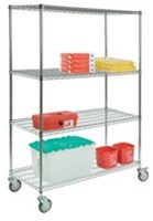 "Mobile 4 Shelf Cart 18""D x 60""L x 69""H: Lakeside Industries: R186063CC-4"