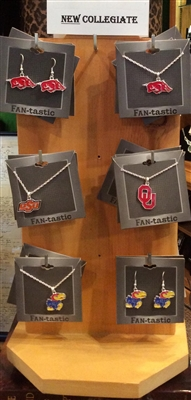 Officially Licensed Collegiate Mascot Necklace or Earrings
