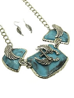 Wings and Pistols Turquoise Set