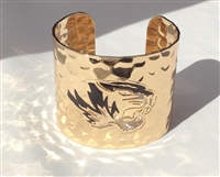 Gold Hammered Mizzou Tigers Cutout Cuff