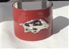 Red Enamel Arkansas Razorbacks Cuff