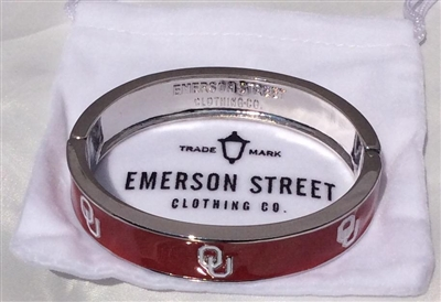 Emerson Street OU Sooners Bangle-1 STYLE