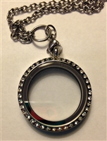 Circle Locket with Bling