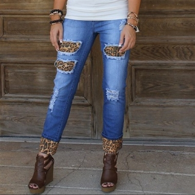 PLUS Leopard Denim Jean