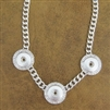3-Snap Button Necklace