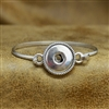 Thin Snap Button Bangle Bracelet