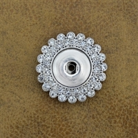 Bling Snap Button Broach Pin