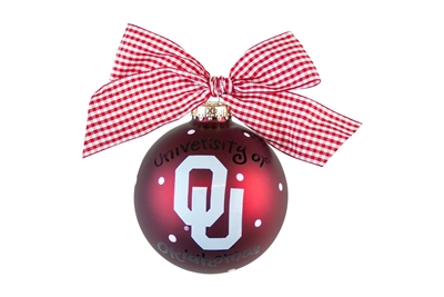 University of Oklahoma Sooners Ornaments-2 STYLES