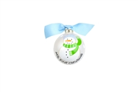 Blue Snowperson Christmas Ornament