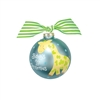 Blue Giraffe Christmas Ornament