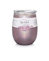 BruMate Glitter or Marble UnCork'D Wine Glass-8 colors