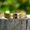 Rustic Cuff Inspirational Metal Bangle