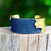 Rustic Cuff 1.5 inch Dallas Stingray