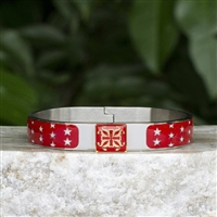 Rustic Cuff 4th of July Jordan in Red, White, or Blue