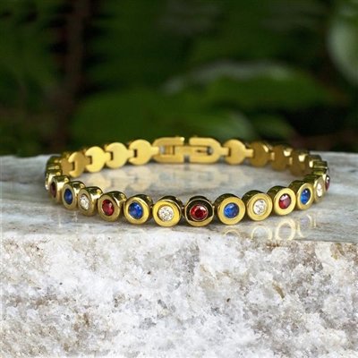 Rustic Cuff 4th of July-Angeline in Gold SALE