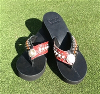 Custom Hand-Made Leather Flip Flop with FREE Snap Button